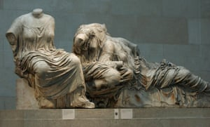 Sculptures of Greek women form part of the Parthenon marbles