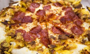 Fresh out of the oven - Dorito pizza.