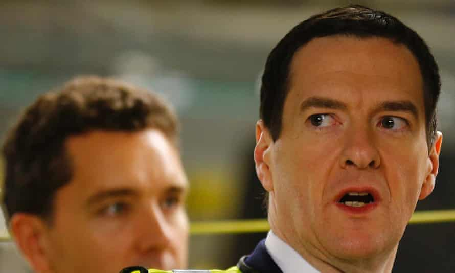 George Osborne before delivering the autumn statement to parliament.