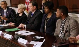 obama ferguson leaders meeting