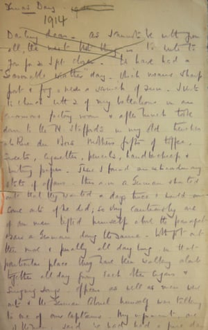 The letter written by General Walter Congreve VC describing the Christmas Day Truce of 1914