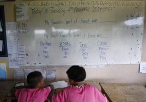 Pupils study English