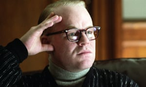 Philip Seymour Hoffman playing the author in the film Capote