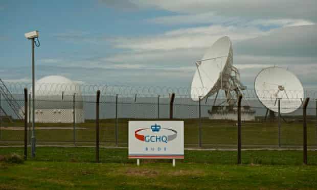 Satellite dishes at GCHQ outpost in Cornwall near where transatlantic fibre-optic cables come ashore