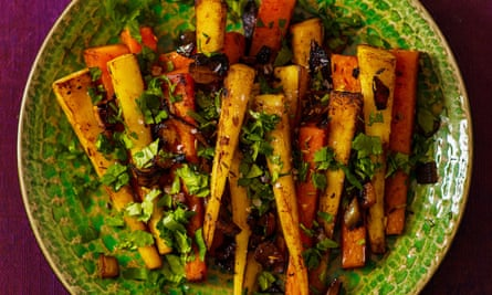 Pan-Roasted Parsnips and Carrots with Cumin