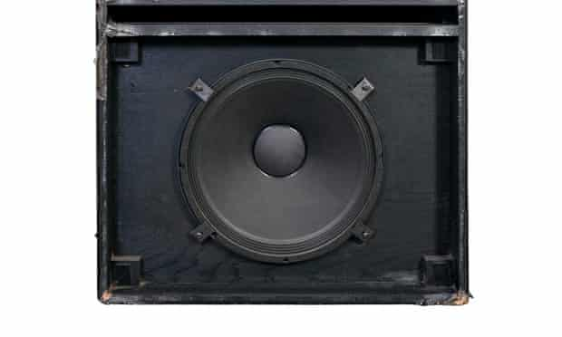 Giant bass speakers.