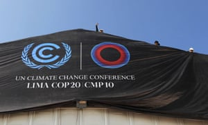 Workers set the finishing touches to the facilities where COP20 summit will take place in Lima, Peru, 30 November 2014. The United Nations Conference about Climatic Change will be held from 01 to 12 December 2014 aimed to negotiate positions in order to achieve a new agreement in climatic policies.