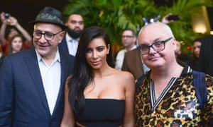 David Hershkovitz, Kim Kardashian, and Mickey Boardman from Paper magazine.
