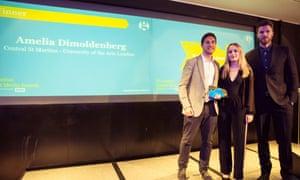 Amelia Dimoldenberg, winner of Student Broadcast Journalist of the Year