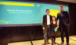 Marta Portocarrero, winner of Student Digital Journalist of the Year