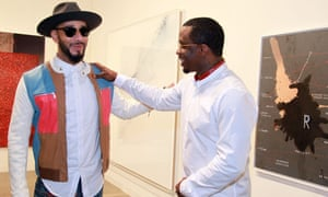 Swizz Beatz and Sean Combs at the Art Basel preview.