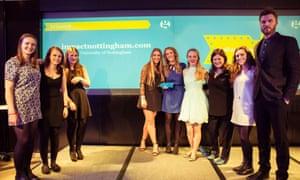 The impactnottingham.com website team, winner of Student Website of the Year