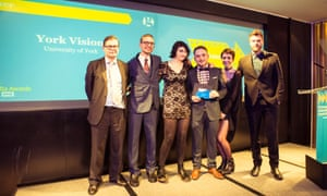 The York Vision team, winner of Student Publication of the Year