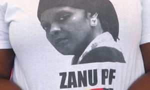 A Zanu-PF supporter. Grace Mugabe was nominated as head of the party's women's league.