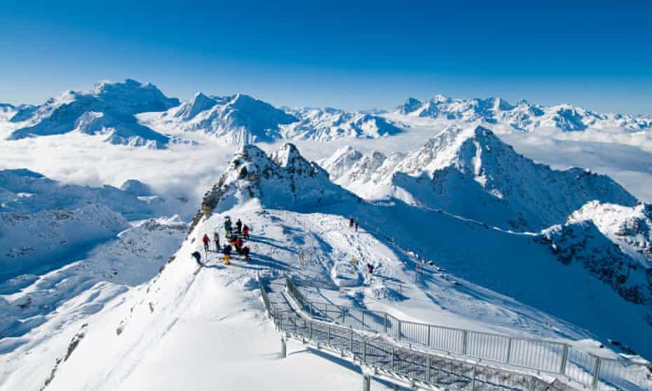 Ski Mont-Fort, Verbier, Switzerland