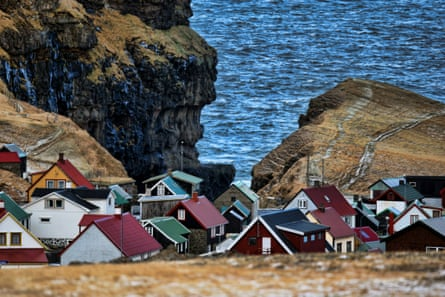 Faroes houses in the winter time.