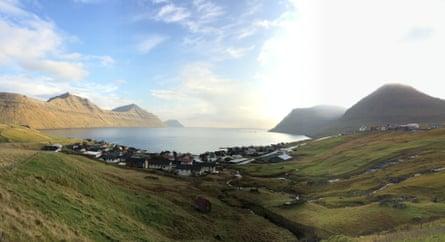 Sydrugota village (in daylight), Faroe Islands