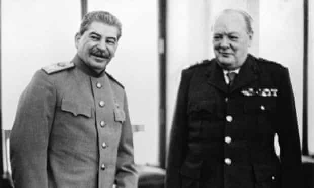 Stalin and Churchill … drinking buddies (not)