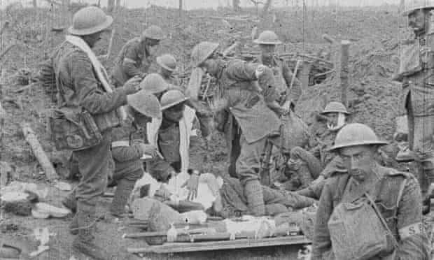 The soldier in the bottom righthand corner is believed to be first world war poet Isaac Rosenberg