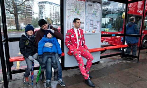Gareth Rubin in his Christmas suit