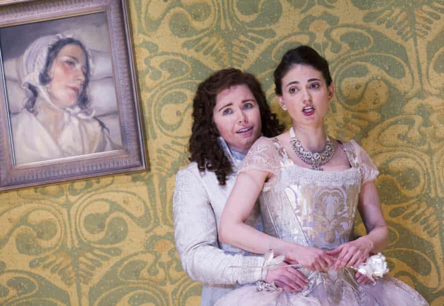 Tara Erraught, left, as Octavian with Teodora Gheorghiu (Sophie) in Der Rosenkavalier at Glyndebourne.
