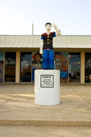 Statue of Popeye in Crystal City, Texas.
