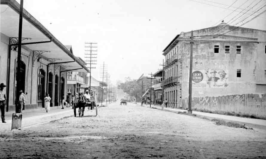 View of the main street of Puerto Limón, Costa Rica, circa 1935.