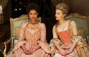 'Utterly mesmerising': Gugu Mbatha-Raw, left, as Dido Elizabeth Belle in Belle.