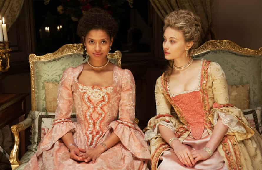 'Utterly mesmerising': Gugu Mbatha-Raw, left, as Dido Elizabeth Belle in Belle.