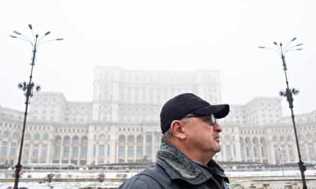 Ionel Boeru at The Palace of Parliament, Bucharest, Romania.