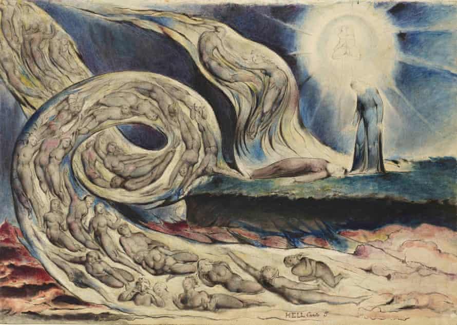 Circle of the Lustful   by Blake