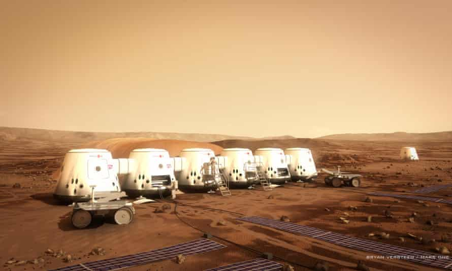 An image from Mars One, a not-for-profit organisation aiming to establish a human colony on the planet.