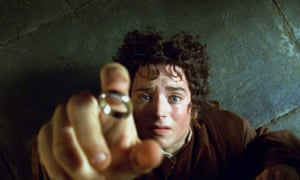 Elijah Wood as Frodo Baggins in The Lord of the Rings: The Fellowship of the Ring.