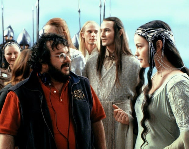 Peter Jackson and Liv Tyler on set of The Lord of the Rings: The Return of the King.