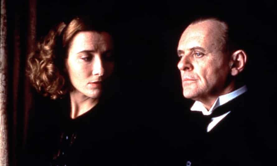Emma Thompson and Anthony Hopkins in the 1993 film adaptation of Kazuo Ishiguro's Booker prize-winning novel The Remains of the Day.
