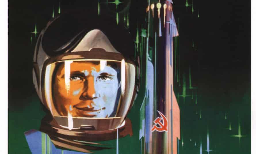 Yuri Gagarin in an artwork by Valentin Petrovich.