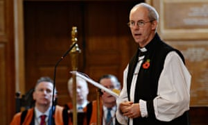 The Archbishop of Canterbury, Justin Welby, has challenged the government to acknowledge their role