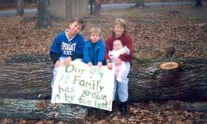 Jarrett McElheney with siblings