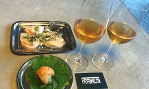 Starters at hip new Hobart restaurant - the Franklin.