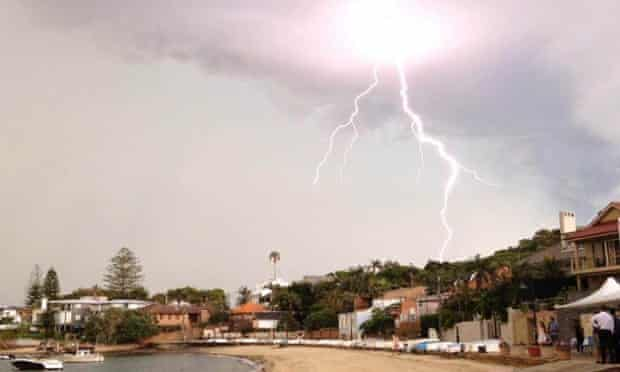 Storm over Watsons Bay in Sydney