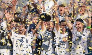 LA Galaxy celebrate
