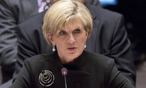 Julie Bishop on the world stage