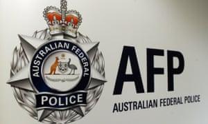 An Australian federal police logo