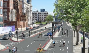 Transport for London's segregated cycle lane plan for Blackfriars junction