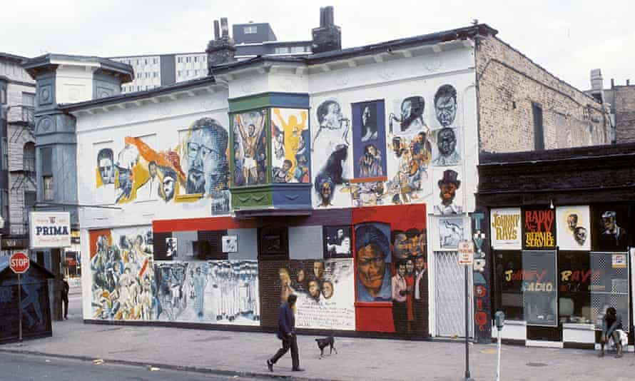 The Wall of Respect in Chicago, a mural conceived by The Organisation of Black American Culture, 1967.