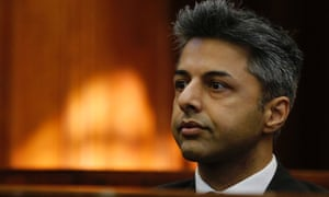 Shrien Dewani in the dock at the Western Cape high court, Cape Town, South Africa.