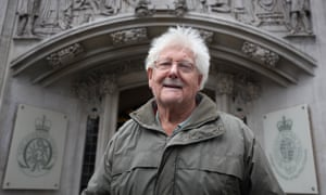 John Catt arriving at the supreme court in London for a hearing to have his details about his attendance at various protests removed from a police database.