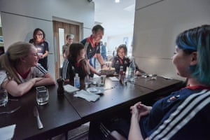 Back at the team hotel and on the eve of the opening day of competition, the team were treated to birthday cake. It was Joanna Rowsell's special day