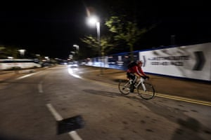By the time Laura gets on the road it is late - but she must recover in time for the first three events of tomorrows omnium competition.