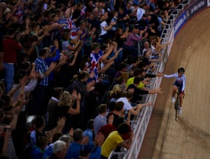 Finally the dream becomes a reality. A win in the omnium to accompany the win in the team pursuit and replicate her Olympic result on the same track.